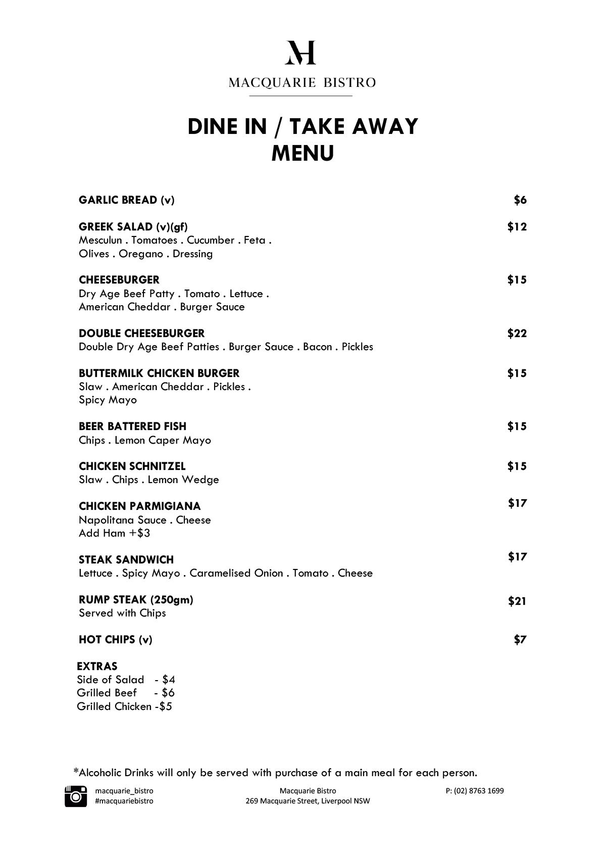 Mac New Dine In & Takeaway Menu